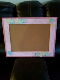 NEW Pin Board with the pink wooden frame London, N6K