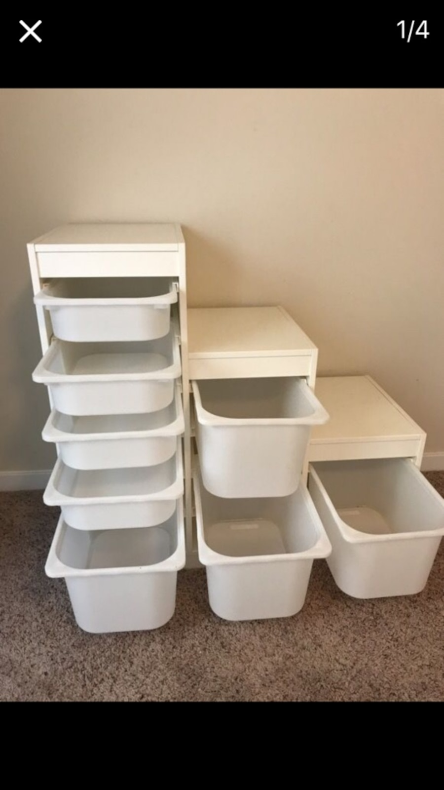 Children's cupboard with 8 movable boxess - United States