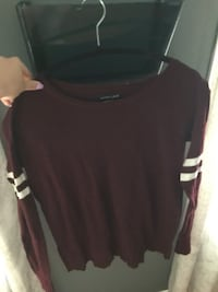 American Eagle Striped Longsleeve Maroon top Mississauga, L5N 2H4