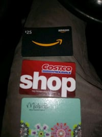 Costco Gift Card:$100.       Michaels is $30.     Amazon is $25