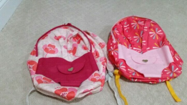 Book bags w doll carrier ($5 for both)
