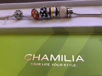Authentic Chamilia Sterling Silver Charm Bracelet Puslinch, N1H