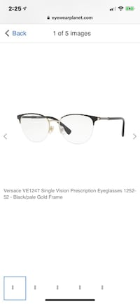 black framed Ray-Ban eyeglasses Toronto, M9L 2C5