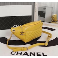 yellow and black leather tote bag San Diego, 92105