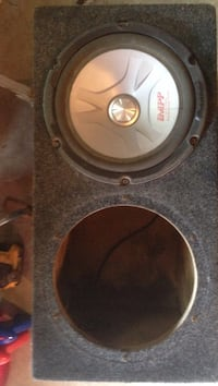 black and gray subwoofer speaker Winnipeg, R2X 1W1