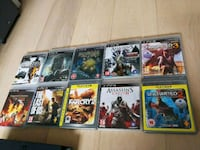 diverse Sony PS3 spill 10 stk