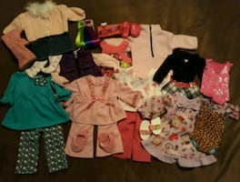 Lot of clothing & accessories for American Girl Dolls