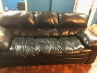 black leather 3-seat sofa Temple Hills, 20748