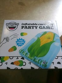 Inflatable toss game used once