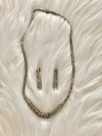 NECKLACE & EARINGS SET VERSACE DUPE COLLIER & BOUCLES D'OREILLES Laval, H7P 1Z7