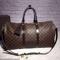brown and black leather Louis Vuitton monogram tote bag New York, 10459