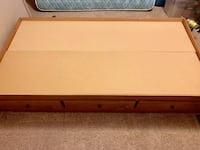 Twin bed frame with 3 drawers