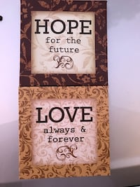 two square hope and love print artwork Kissimmee, 34758