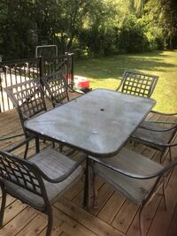 Patio set. 6 chairs table and umbrella included.  Mississauga, L5G 4P6