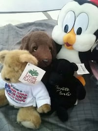two brown and white bear plush toys Delta, V4C