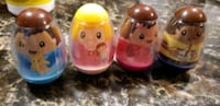 set of 4 weebles