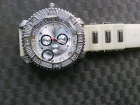 round silver chronograph watch with silver link bracelet Pensacola, 32506