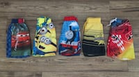 two blue and yellow Minion print pants Windsor