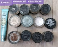 Eyeshadow base paint pots and brows  Toronto, M9B 1A9