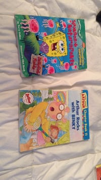 sponebob squarepants and arthur rocks with binky reading books Cambridge, N1T