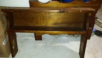 Wooden twin size bed frame