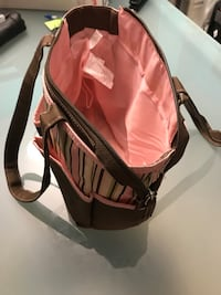black and pink leather crossbody bag Gatineau, J8T 2Y8