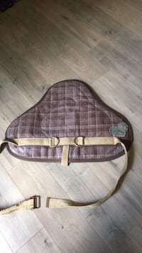 brown and white leather crossbody bag Surrey, V3W 5G7