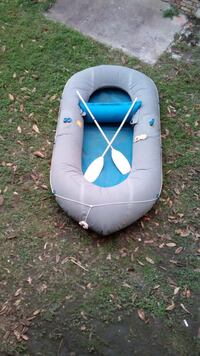 Grey and blue inflatable boat Houston, 77036