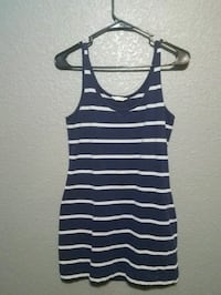 blue and gray stripe tank top/dress Tucson, 85747