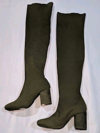 Olive knee high boots Kitchener, N2H 1C6