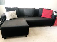 Black sofa, sleeper, 3 seater w/ storage Washington, 20019