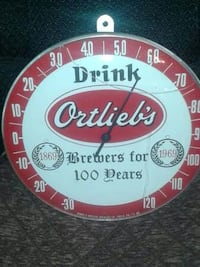 beer sign thermometer