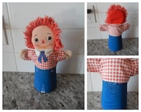 *Vintage* 1968 Well Loved!!! Raggedy Andy Cloth Ha Morinville