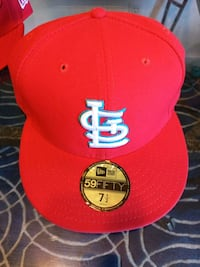 red and white New Era 59Fifty snapback cap Ballwin