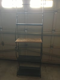 Wrought Iron and wood Bakers Rack  Mississauga, L5N 7Z9