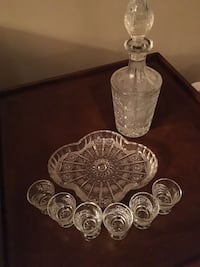 Bohemia crystal decanter with 6 glasses and tray  Oakville, L6M 5E4