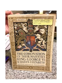 Original 1937 program of The Coronation Of their Majesties King George VI and Queen Elizabeth