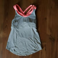 Women's gray and pink lulu lemon sport top size: 6 St. Catharines, L2S 3C7