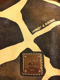 black and white Dooney & Bourke leather bag