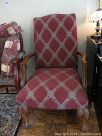 Beautiful Maroon Accent Chair Essex, 21221