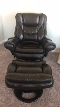 Brown Leather Recliner with Foot Stool-$375 Henderson, 89012