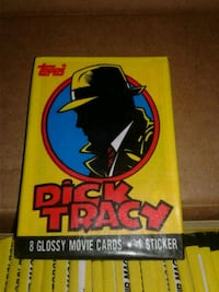 Dick Tracy glossy movie card packages Buena Park, 90620