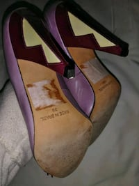 pair of pink-and-brown leather pumps Dale City, 22193