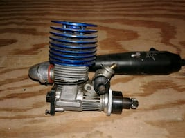 RC SH ENGINES PT21-P3 NITRO MOTOR with header , exhaust pipe and bell