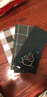 Green Xmas tea towels/dish towels -3 523 km