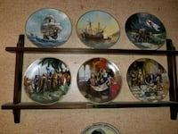 6 collecter plates mint condition and shelve  Brunswick, 21716