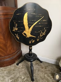 black and yellow floral table lamp Halethorpe, 21227