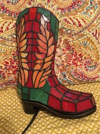 stained glass cowboy boot accent light Newport News, 23606