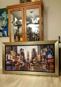 Wall Framed Canvas Art- NYC Time's Square