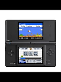 black Nintendo DS with game cartridge 3156 km